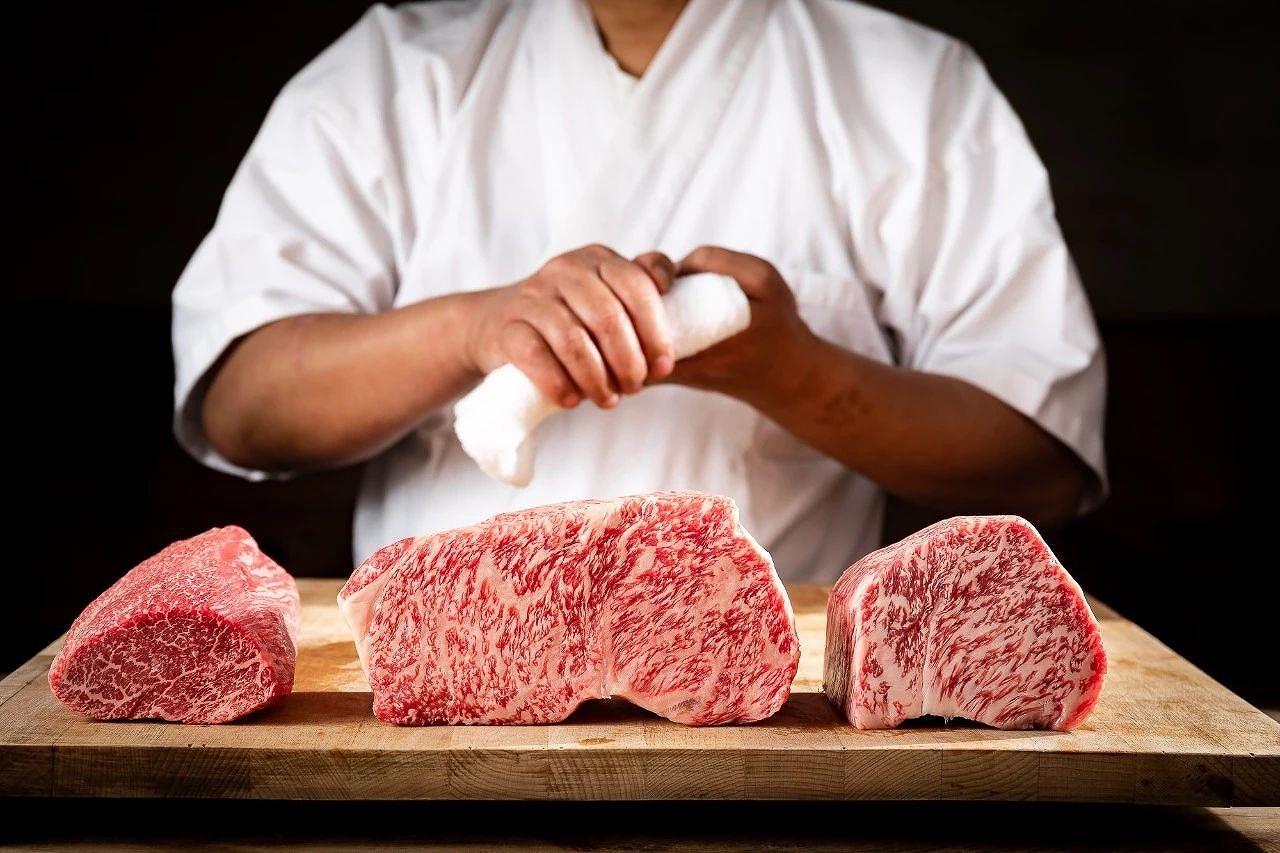 厳選された和牛肉
